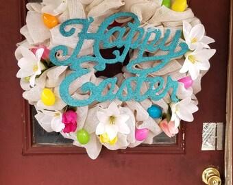 Easter wreath* egg wreath* spring wreath*