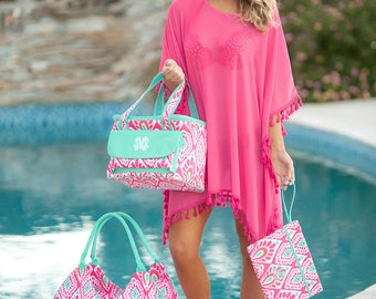 Monogrammed Beach Bag, Weekender Bag, Bridesmaid Gifts, Bridal Shower Gifts, Group Discounts, Jumbo Beach Bags