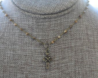 Rosary Choker with Pendant