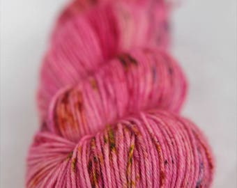 Hand-dyed yarn - sock yarn - superwash - merino - dyed-to-order - speckles - HOT