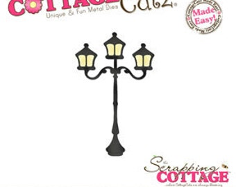 "SALE Cottage Cutz ""Lamp Post (4x4)"""