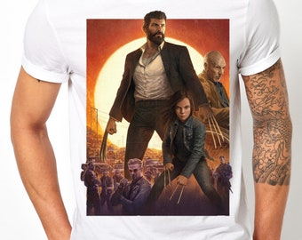 Logan Wolverine XMEN Old Man Logan Deadpool Movie T Shirt Kids Mens Any Size