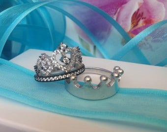 crown ring,silver crown ring,queen ring,king ring,crown ring set,tiara ring,princess tiara ring,princess ring,promise ring,danity
