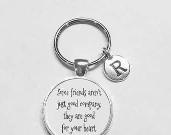 Initial Keychain, Best Friend Gift, Best Friend Keychain, Sister Gift, Choose Initial Keychain