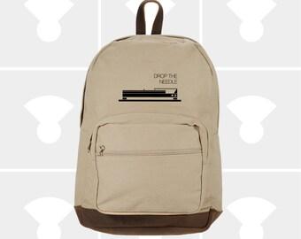 Laptop Backpack - Canvas Backpack - Festival Backpack - DJ Gift - Rucksack - Travel Backpack - Hipster Backpack - Variety Turntable Graphic