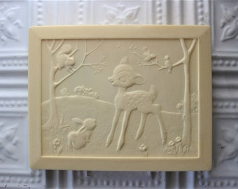 Beautiful Vintage Childrens Box, Celluloid, Twinkies Gift Box, Bambi and Thumper