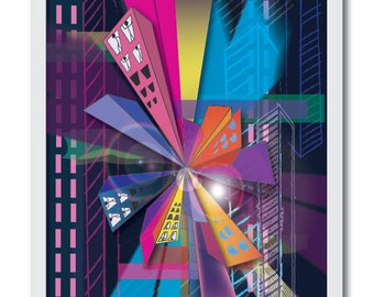 Urban Heights - 11x14 Poster Print