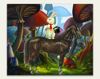 Wonderland Giclee Print on Stretched Canvas - Ready to Hang