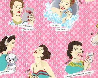 Glamping Fabric Collection - Glamour Girls Shasta Pink 11600-12 - 1 Yard