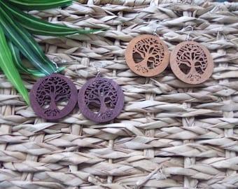 Tree of Life Wooden Earrings | Tree of Life Earrings | African Earrings | Wood Earrings | African Symbol Earrings