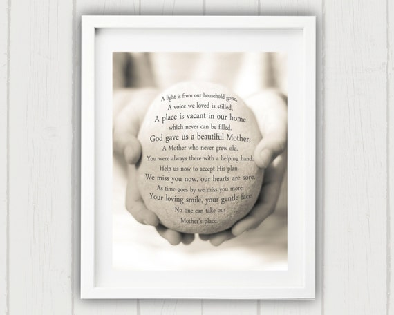 Items Similar To Mother Remembrance Gift, Sympathy Gift