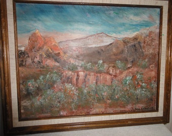 Small Vintage Oil Painting/ Signed Gene Garrison