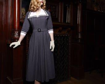 1950s dress after original cut