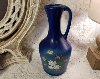 Decorative ceramic hand painted pitcher/jug