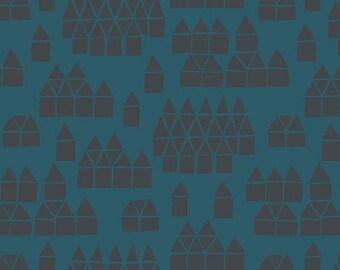 Maker Maker Village Blue Linen Cotton Fabric