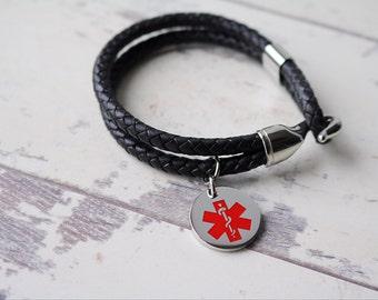 Medical Id Bracelet, Medical Alert Bracelet, Medical Alert Charm
