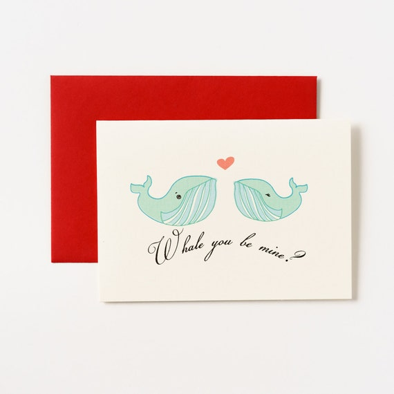 Whale You Be Mine Valentine's Day Greeting Card