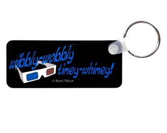 Who 10th Doctor Keychain Wibbly Wobbly Timey Whimey