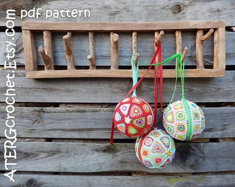Crochet pattern Christmasball XL by ATERGcrochet
