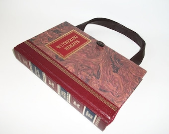 Book Purse Emily Bronte Wuthering Heights Handbag, Book Bag Clutch, Book Lover Gift