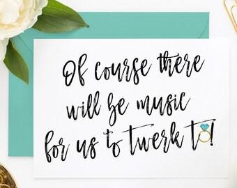 Funny Bridesmaid Proposal Card, Funny Maid of Honor, Funny Asking Cards, Bridesmaid Cards, Will You Be My Maid of Honor, Be My Bridesmaid