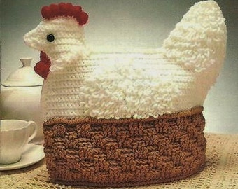Crochet Pattern - Hen Tea Cozy/Cosy - Perfect EASTER Gift - Novelty Item PDF Download