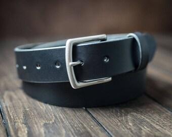 Leather Belt for men, Mens Belt, Mens Leather Belt, Full Grain Leather belt, Custom Made - Black