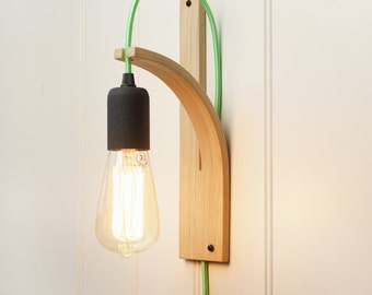 Wall sconce lighting English Oak bracket