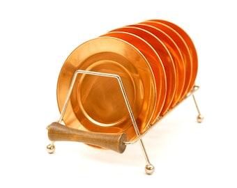 Vintage Solid Copper Coasters | Set of 6