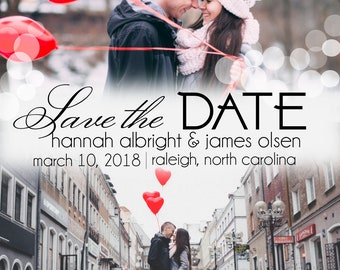 Digital Download - Multi-Photo Save the Date Postcard