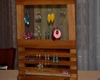 Multi Levels Jewelry Hanger, Jewelry Organizer, wooden Jewelry Organizer