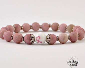 Limited Edition Breast Cancer Awareness Womens Stretchy Bracelet