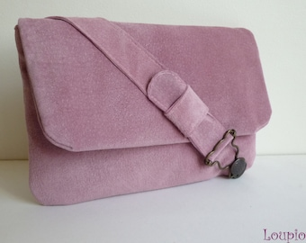 Pouch bag pink leather