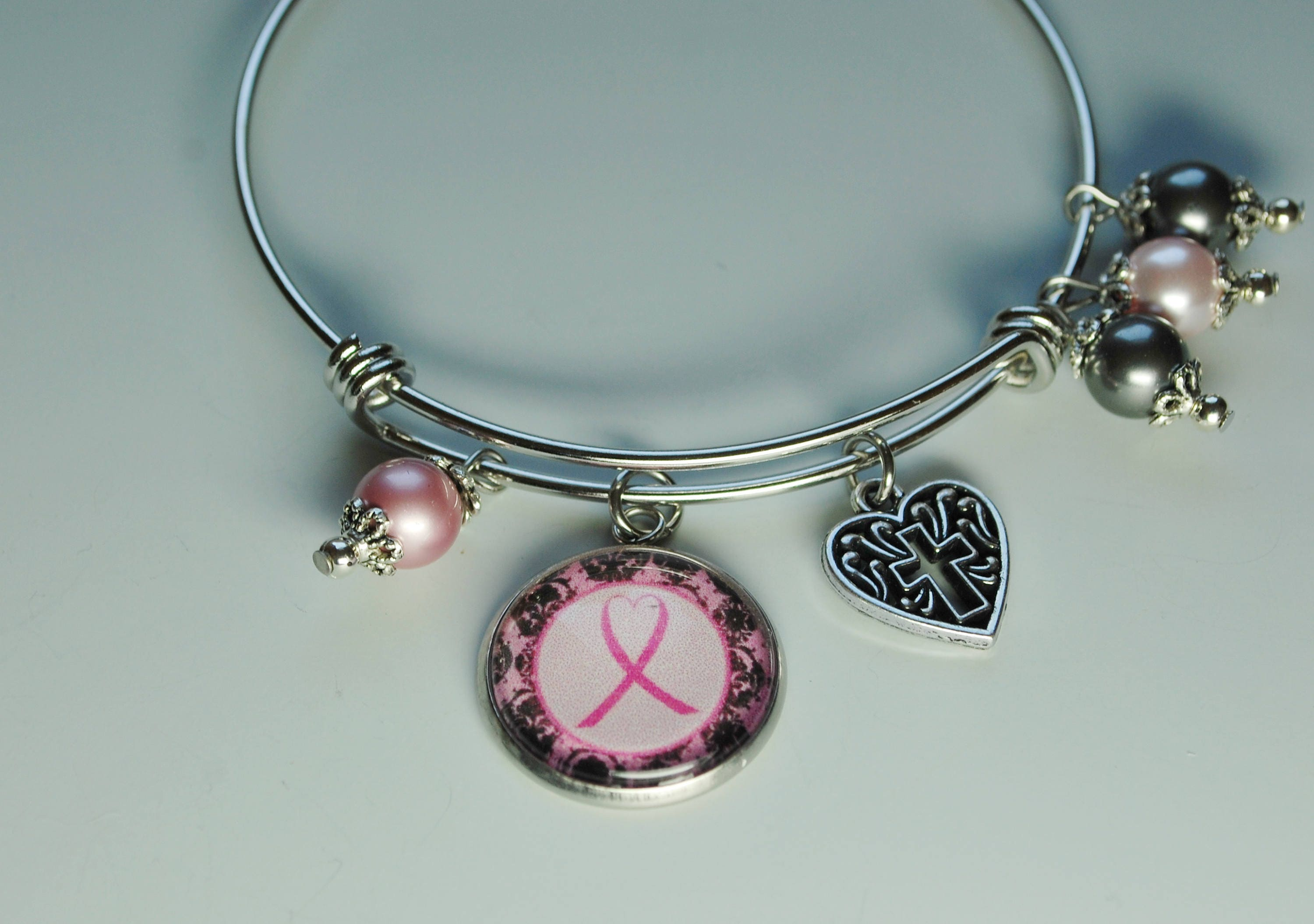 breast ocxh survivor pink p ribbon charm jewelry il bracelet cancer fullxfull