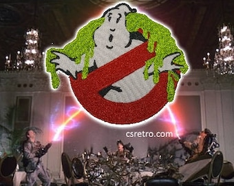 Ectoplasm Ghostbusters retro vintage style iron on patch applique