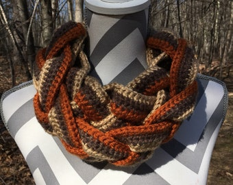 One of a Kind Braided Cowl - Braided Scarf - Cowl Neck Scarf - Cowl Scarf - Fashion Scarves - Gift for Her - Gift for Wife - Gift for Mom