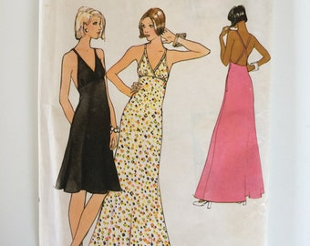 Vintage Vogue 6385 sewing pattern - Misses back-cross strap dress - size 12