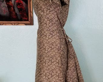 1950's Floral Brocade Cheongsam with Bustle
