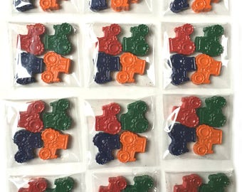 48 Tractor Crayons - Birthday Party Favors - 12 Sets of 4 Crayons - Great for a John Deere Party