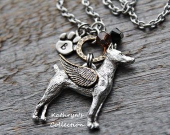 Doberman Necklace, Doberman Angel, Doberman Jewelry, Doberman Mom, Pet Memorial Jewelry, Doberman Sympathy