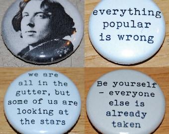 Oscar Wilde Button Badge 25mm / 1 inch Writer/Poet