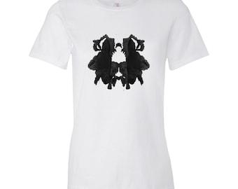 L'encre tache Style oeuvre Rorschach psychologie Test T Shirt femmes 29