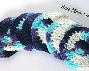 Crochet Face Scrubbies Set of 7