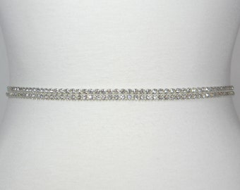 Wedding Belt, Bridal Sash, Bridal Belt, Wedding Dress Belt, Flower Girl Sash, All Clear Crystal Rhinestone Beaded Evening Gown Sashes, JEWEL