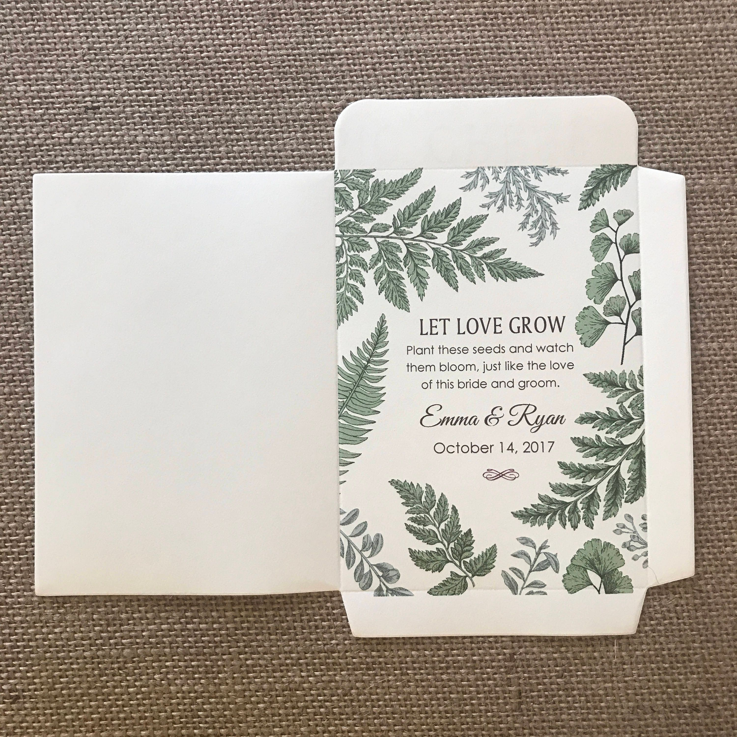 NEW SIZE - DIY Custom Seed Packets, Kraft, Personalized Envelopes ...