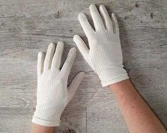 gloves off white vintage