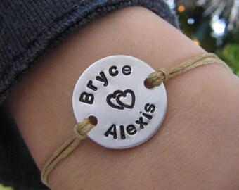 Couples bracelet - Custom Couples Bracelet - Personalized Bracelet - Gift for Him - Gift for Her - Boyfriend Gift - Girlfriend Gift
