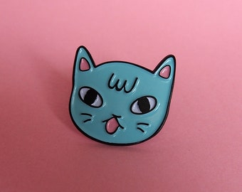 Sassy Cat enamel lapel pin - Cat pin - Enamel pin - Enamel cat pin - I like cats - Cat lapel pin - Cat jewellery - Cat gifts - Cats - Cat