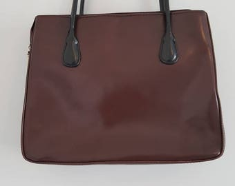 Bag / handbag / Vintage / Black / Burgundy