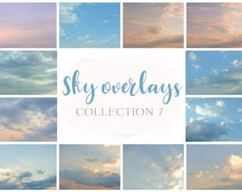Set collection 7 sky overlay,  sky overlays, photoshop overlay, cloud overlay
